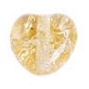 Glass Bead Cracked 8mm Heart Strung Light Topaz